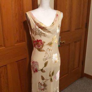Women's Sheer  holiday dress NWT holiday maxi 10